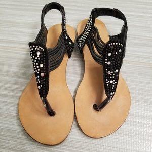 Other - Little girls black rhinestone sandals